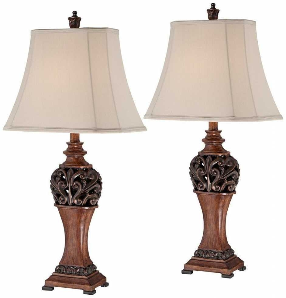Inspiration about Living Room Table Lamps Sets New 2 Bronze Set Traditional Table Regarding Traditional Table Lamps For Living Room (#14 of 15)