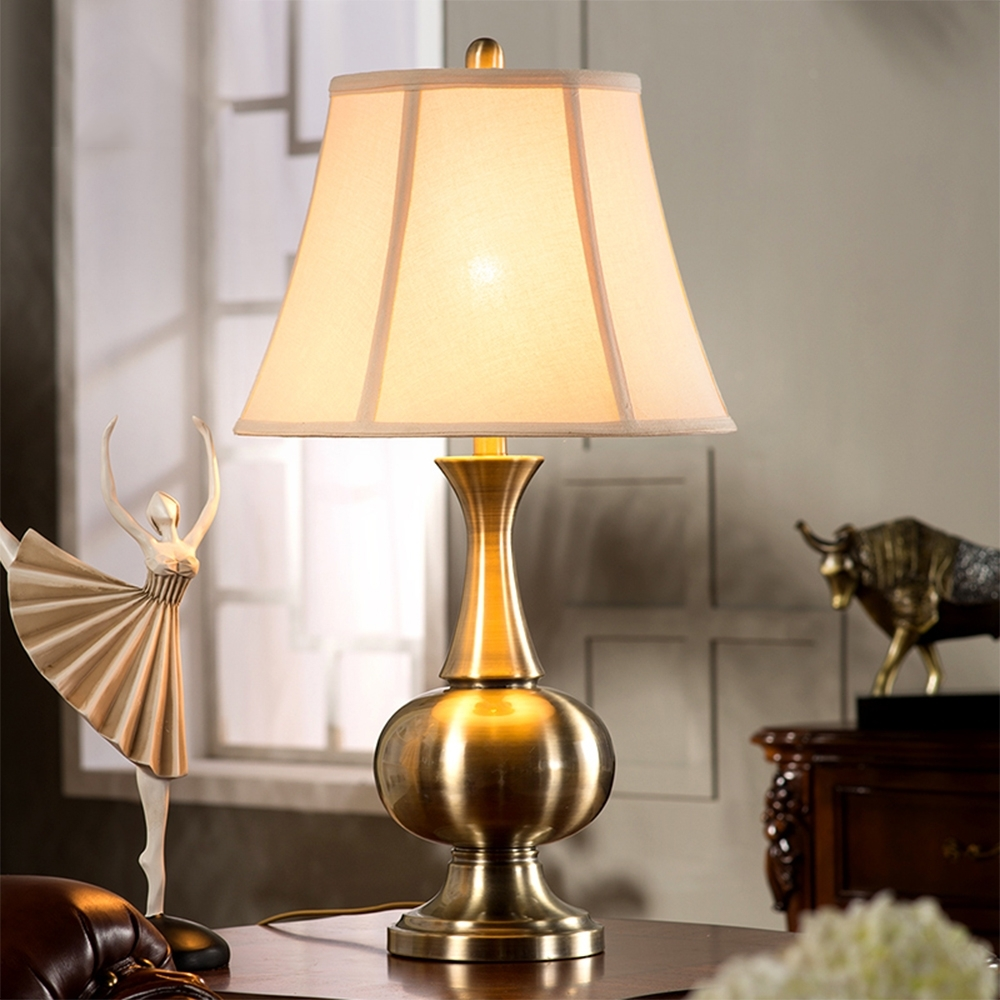 Inspiration about Luxury Retro Copper Table Lamp Bedroom Bedside Lamp Creative Pertaining To Country Living Room Table Lamps (#2 of 15)