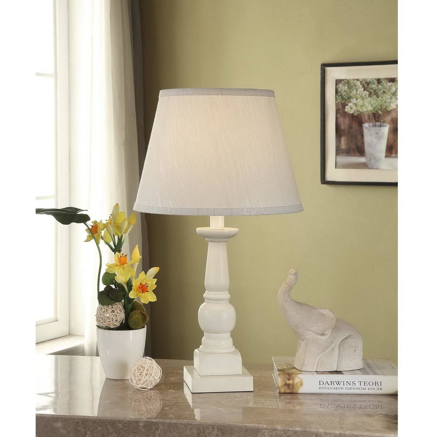 Mainstays Washed Finish Wood Table Lamp Base – Walmart Pertaining To Rustic Living Room Table Lamps (#3 of 15)