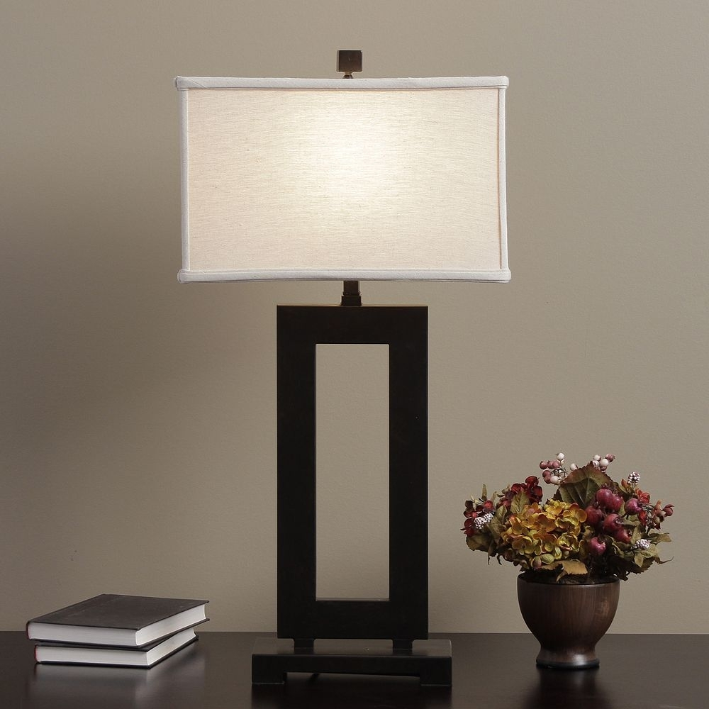 Inspiration about Mocha Metal Table Lamp With Cream Shade | Overstock Shopping Regarding Overstock Living Room Table Lamps (#1 of 15)