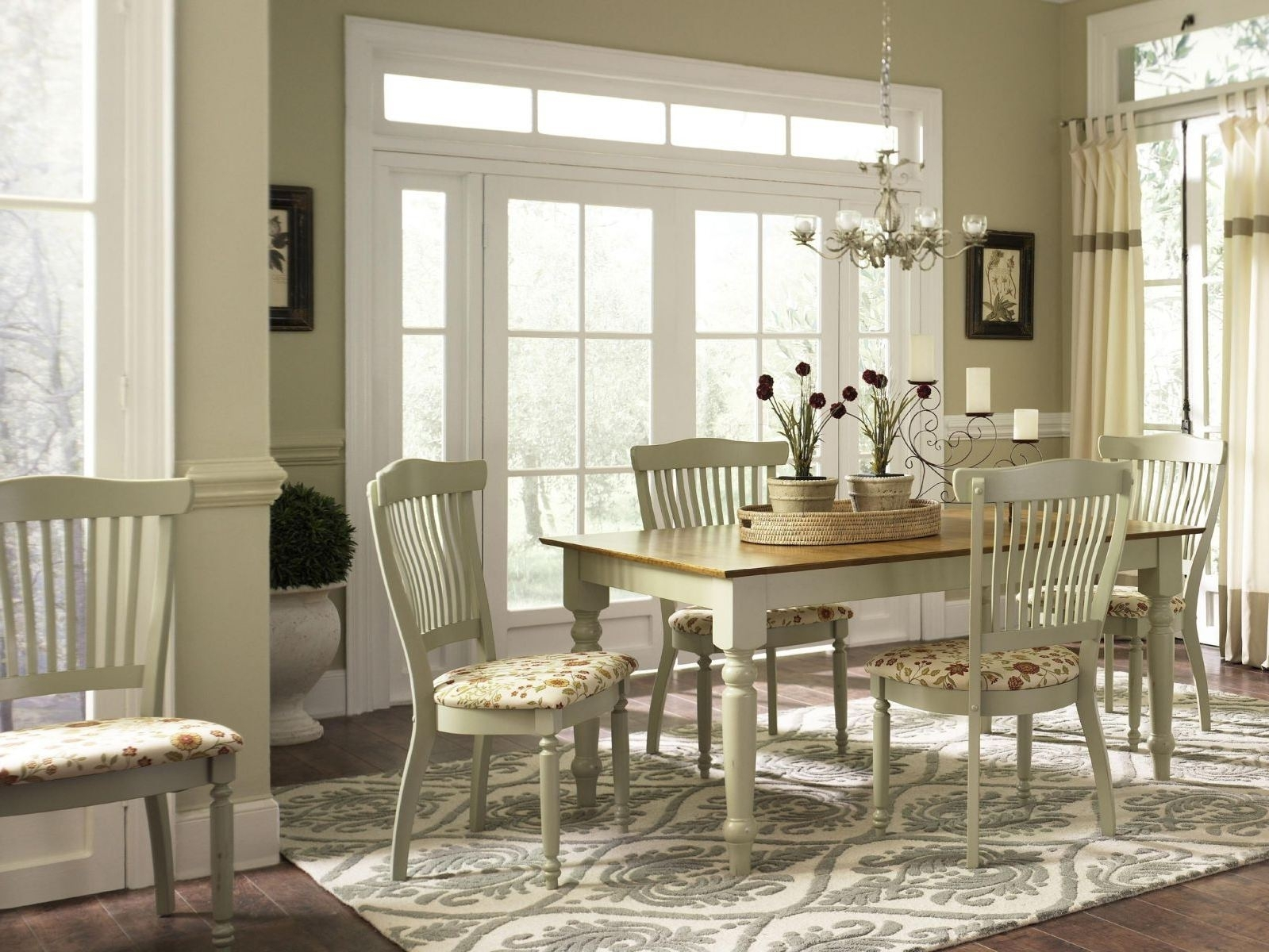 Inspiration about Modern Dining Room Ideas White French Country Wooden Dining Table Throughout Country Living Room Table Lamps (#15 of 15)