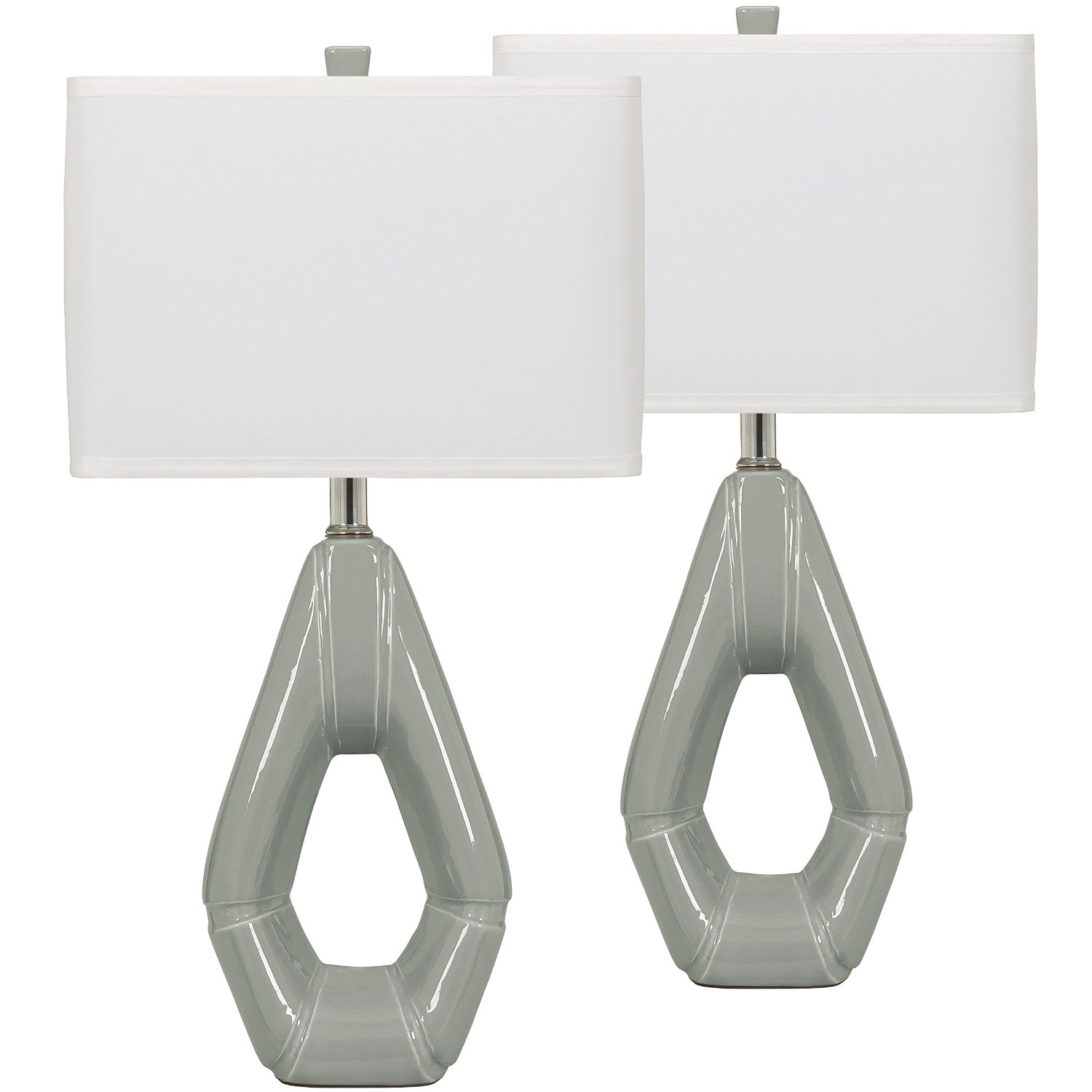 Inspiration about Modern Living Room Table Lamp Set Grey Ceramic Table Lamp Set Of 2 Pertaining To Set Of 2 Living Room Table Lamps (#13 of 15)