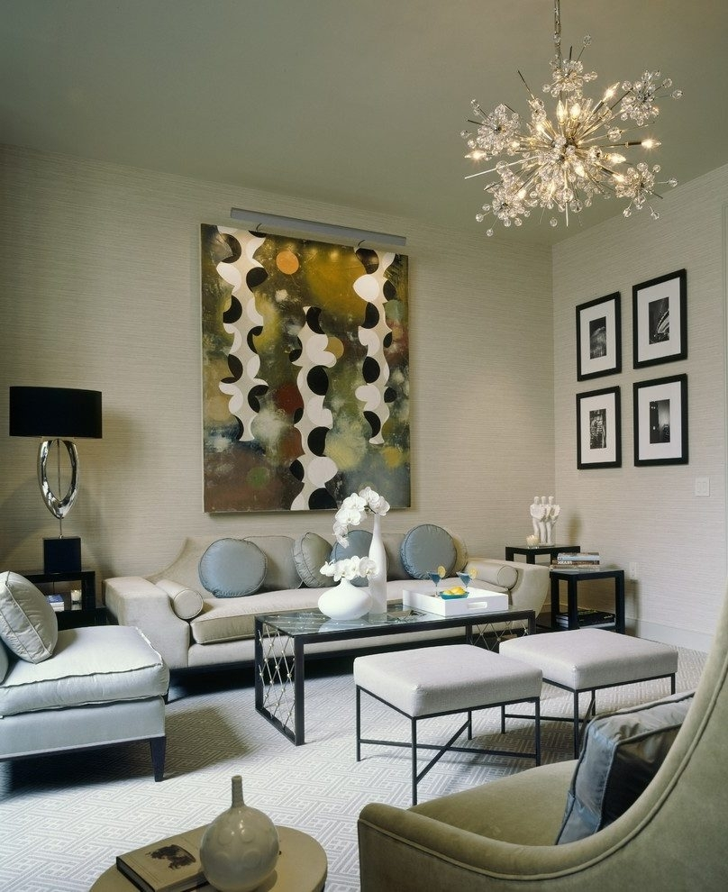New York Small Condo Living Room Transitional With Style Metal Table With Regard To Transitional Living Room Table Lamps (#11 of 15)
