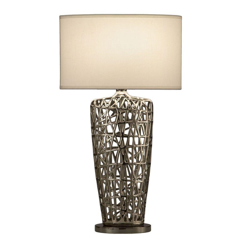 Nova Birds Nest Heart Table Lamp 11076 – The Home Depot Regarding Blue Living Room Table Lamps (#10 of 15)