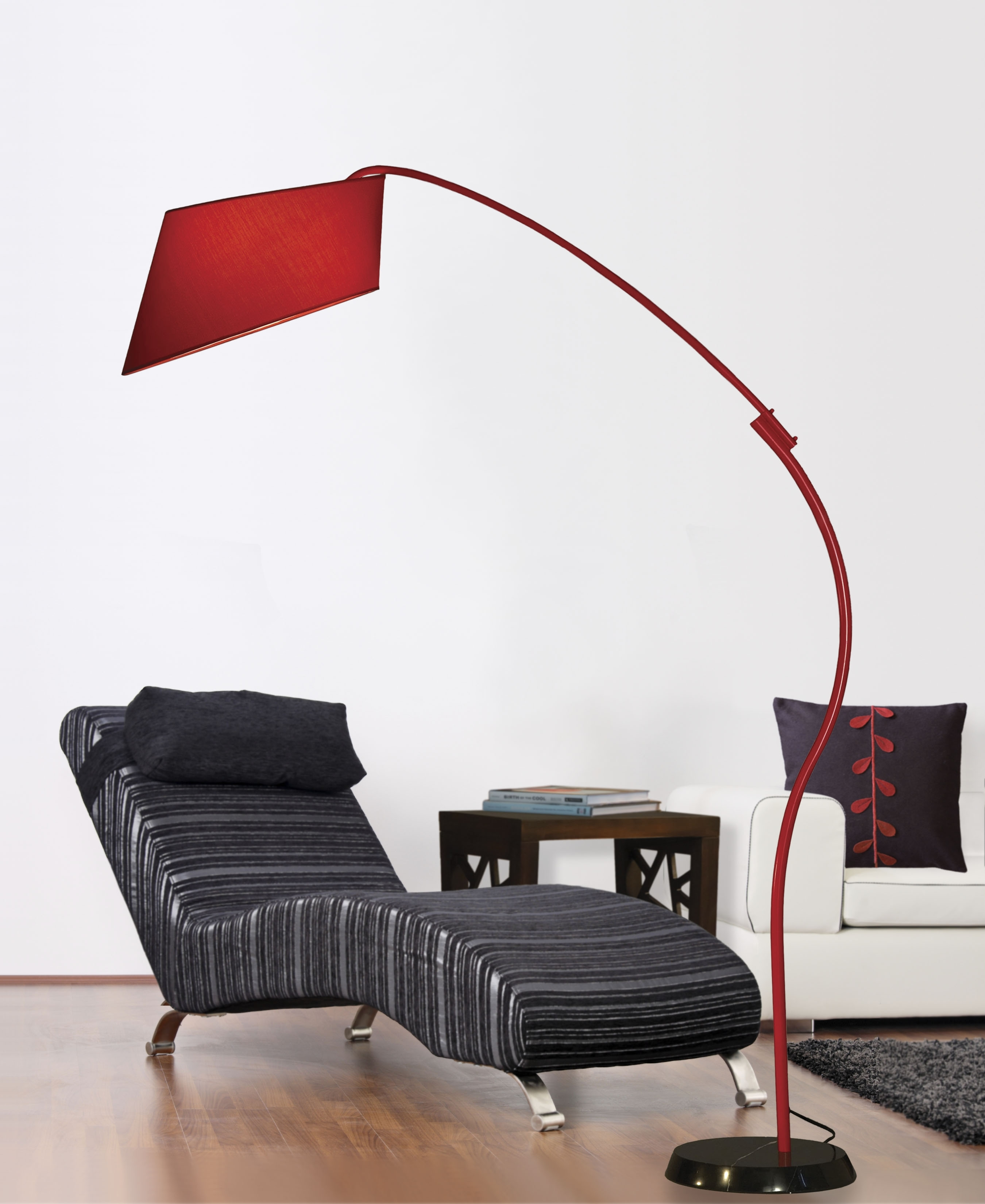 Pleasant Red Arc Floor Lamp Set For Bathroom Accessories Charming Intended For Red Living Room Table Lamps (View 4 of 15)