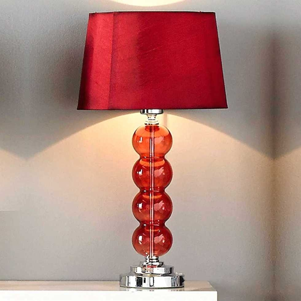 Inspiration about Red Table Lamps For Living Room – Ahcshome Pertaining To Red Living Room Table Lamps (#9 of 15)