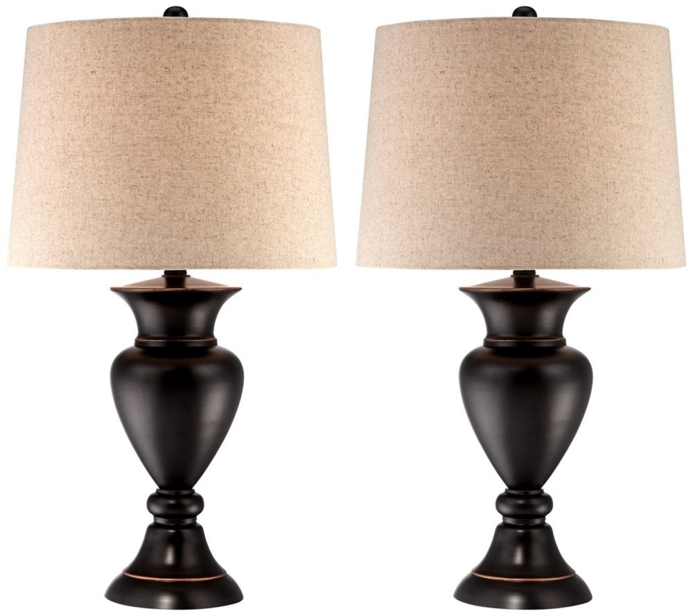 Inspiration about Reduced Bedroom Lamps Set Of 2 Side Table Light Wood Finish With Living Room Table Lamps Sets (#1 of 15)