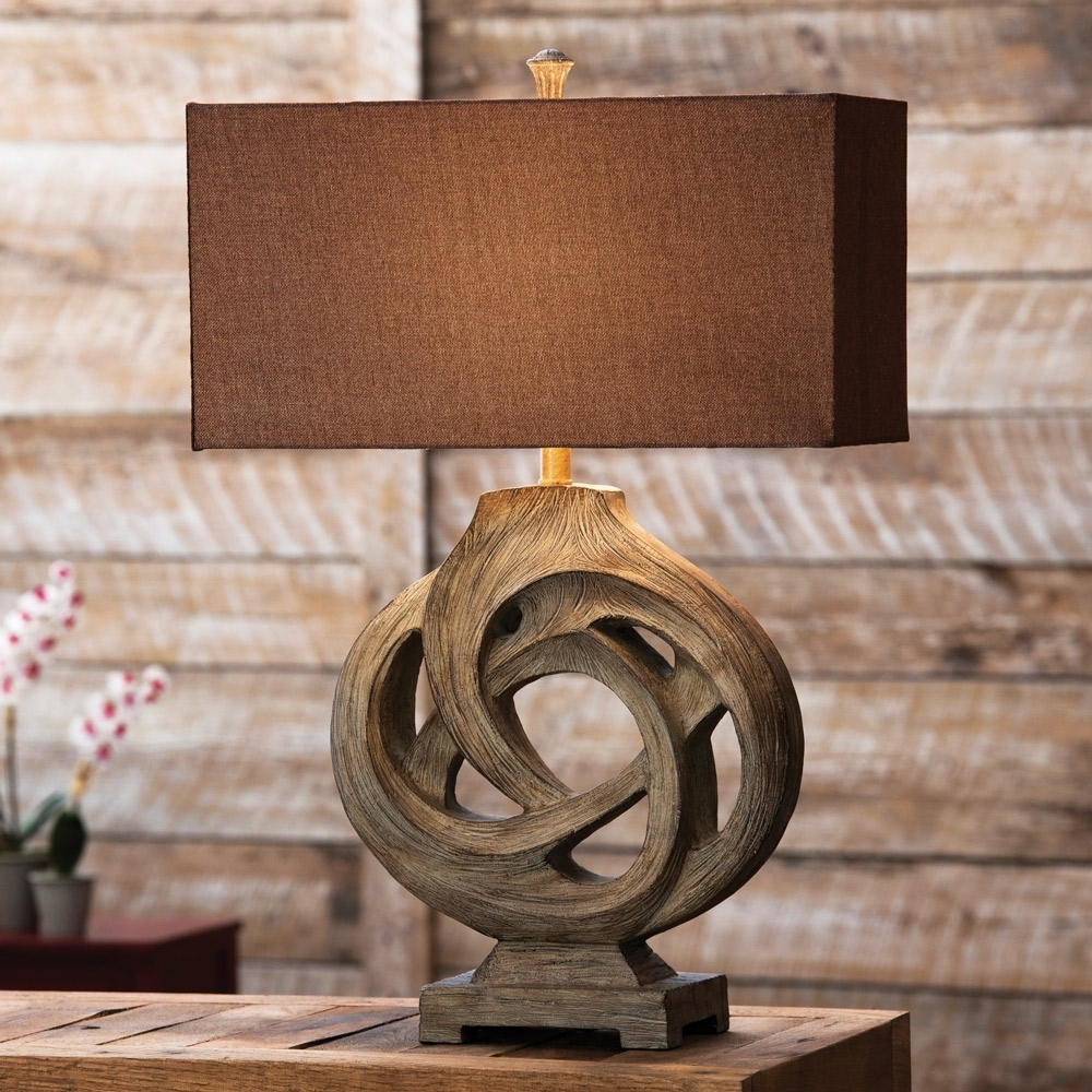 Inspiration about Rustic Table Lamps Infinity Branch Table Lamp – Lighting And Chandeliers Throughout Rustic Living Room Table Lamps (#12 of 15)