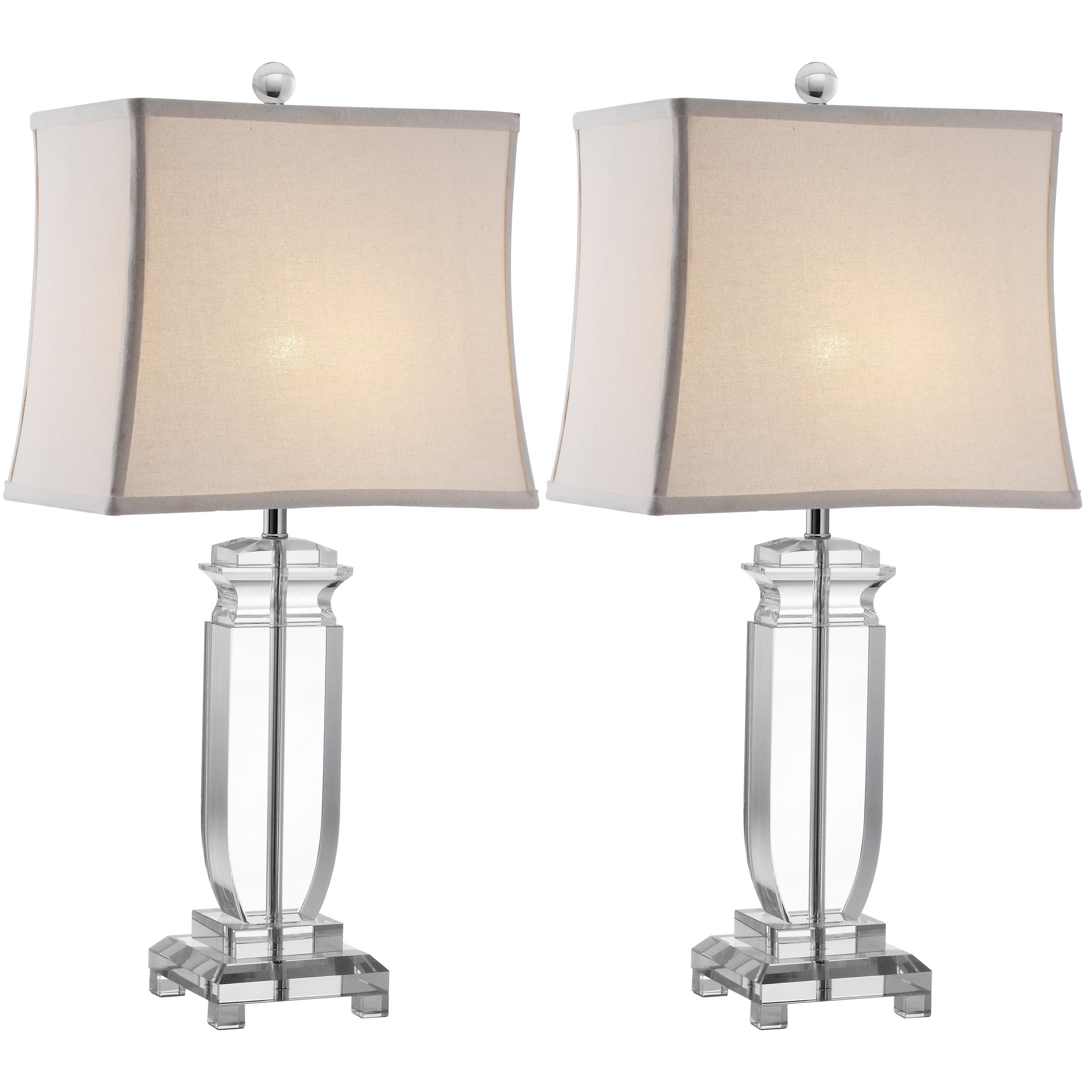 Safavieh Lighting 25 Inch Olympia Crystal Table Lamps (Set Of 2 Regarding Living Room Table Lamps Sets (#14 of 15)