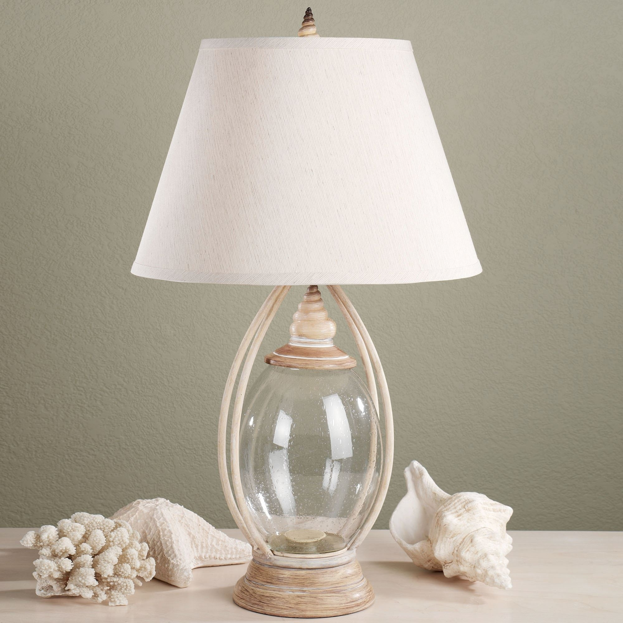 Sea Treasures Fillable Glass Table Lamp In Living Room Touch Table Lamps (#13 of 15)