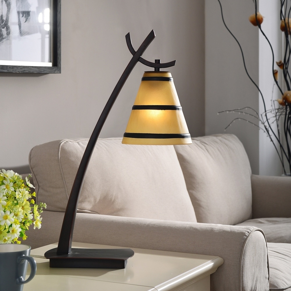 Shop Design Craft Iommi Oil Rubbed Bronze 1 Light Table Lamp – Free Inside Overstock Living Room Table Lamps (#12 of 15)