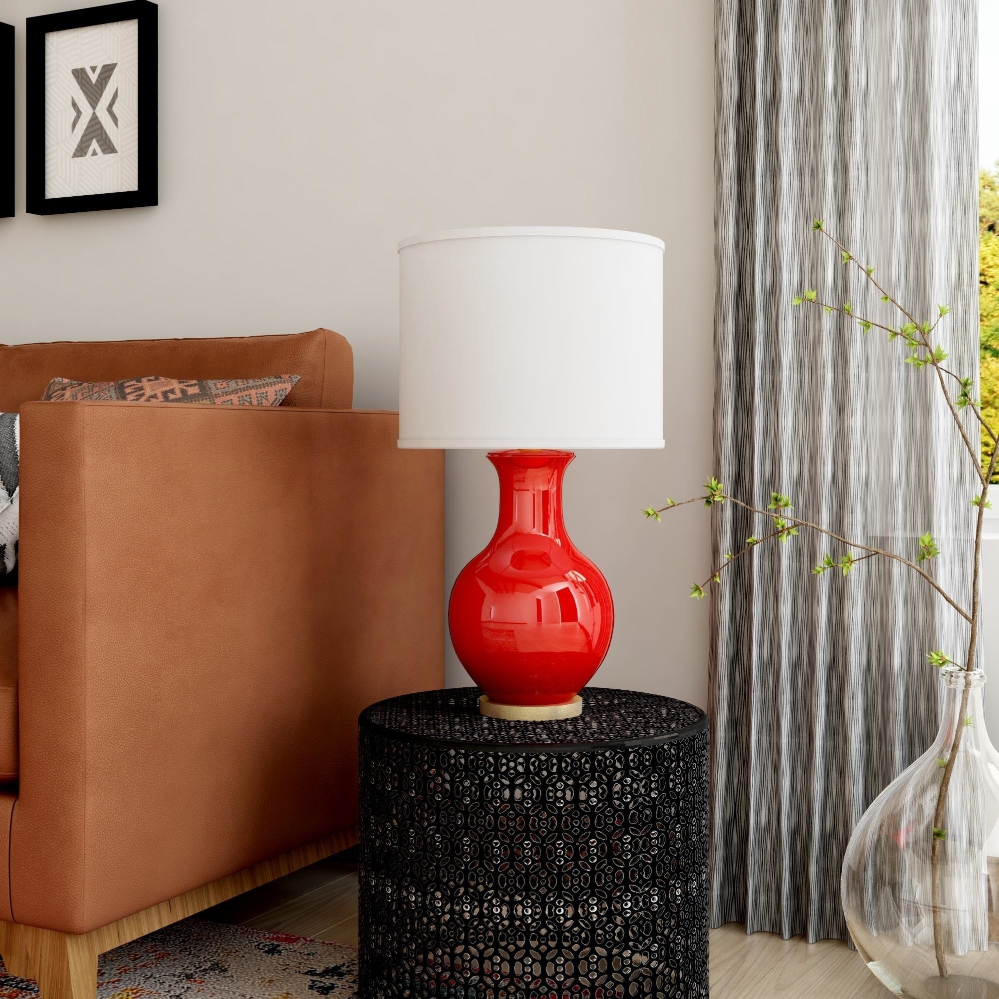 Shop Oliver & James Vija Ceramic Table Lamp – Free Shipping On In Overstock Living Room Table Lamps (#14 of 15)