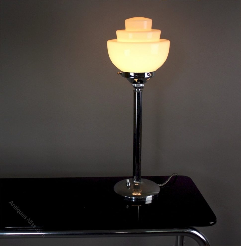 Surging Art Deco Table Lamp Livingroom Delightful Lamps Desk Ebay Nz Intended For Table Lamps For Living Room At Ebay (#13 of 15)