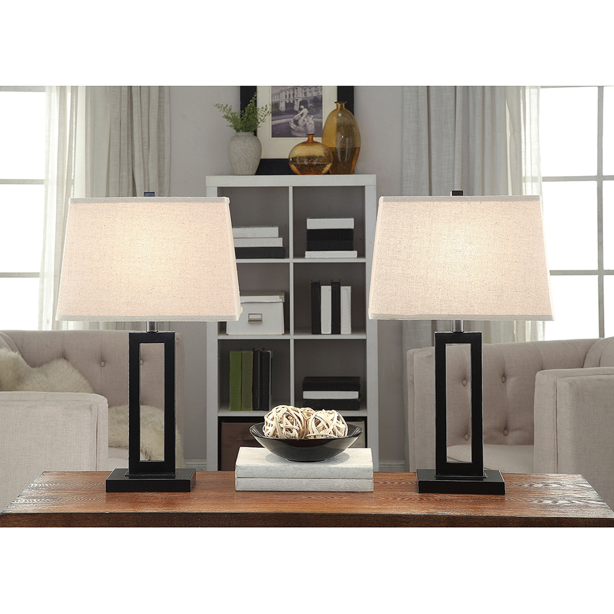 Inspiration about Table Lamp Set Of 2 Desk Living Room Black Contemporary, Living Room Pertaining To Set Of 2 Living Room Table Lamps (#9 of 15)