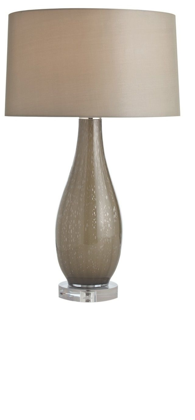 Taupe Contemporary Table Lamp — Shade And Body From Instyle Decor Inside Living Room Table Lamp Shades (#13 of 15)