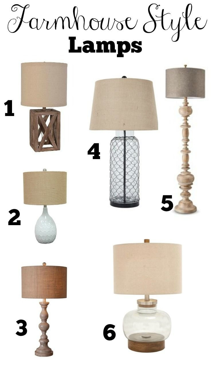 Transitioning To Farmhouse Style: Complete Shopping Guide Throughout Primitive Living Room Table Lamps (#15 of 15)