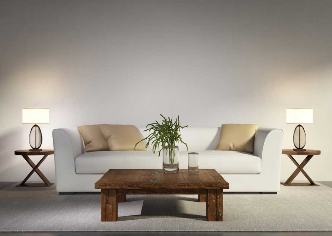 Popular Photo of Brown Living Room Table Lamps