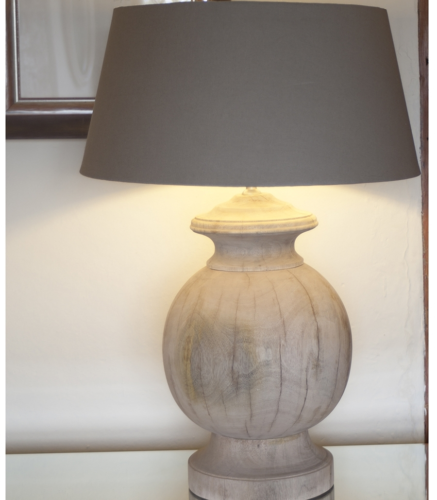 Popular Photo of Wood Table Lamps For Living Room