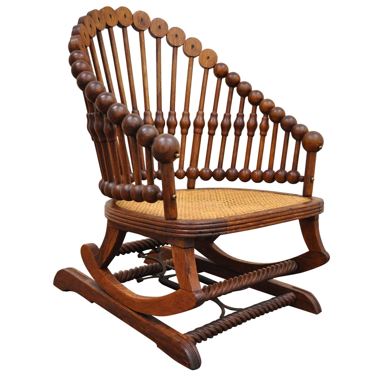 Inspiration about 1880S George Hunzinger Victorian Platform Lollipop Rocker Or Rocking With Regard To Victorian Rocking Chairs (#9 of 15)