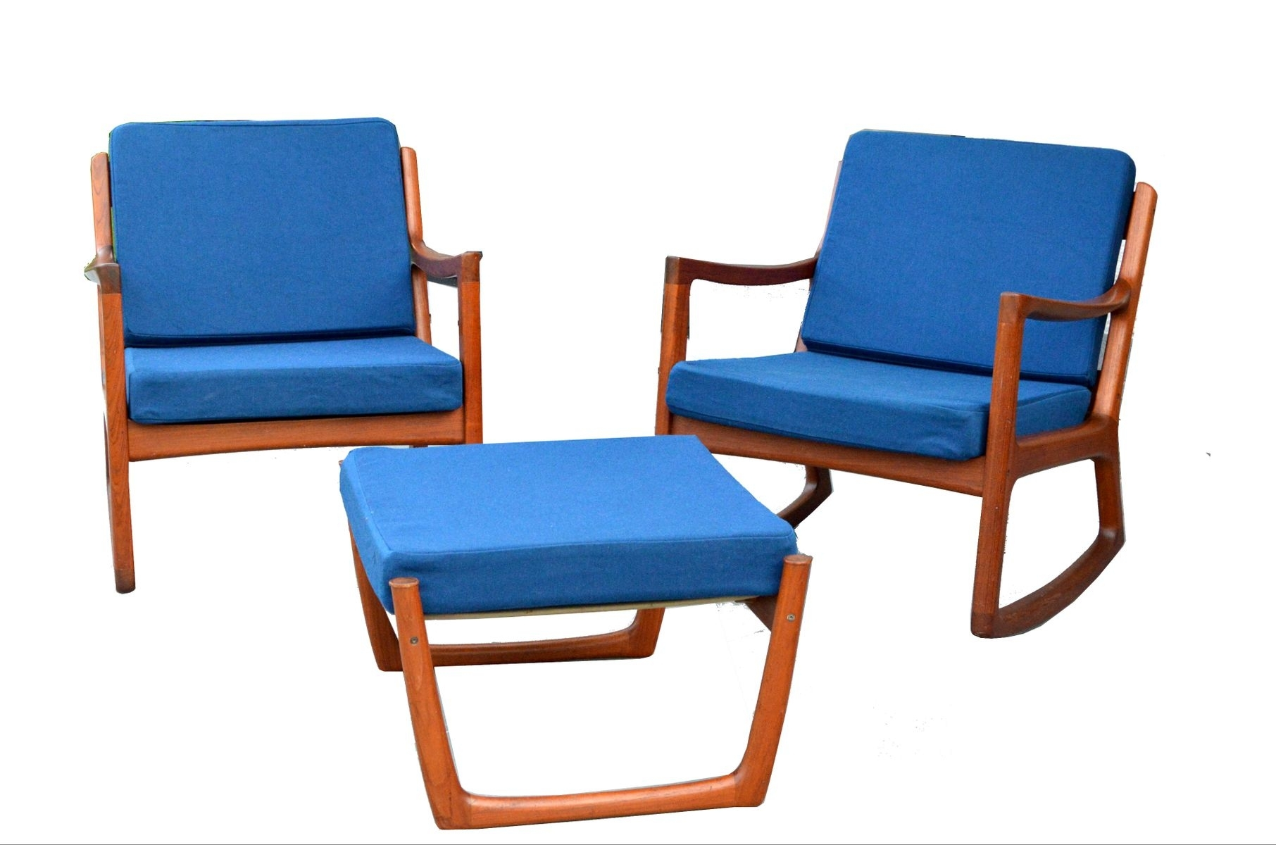 Inspiration about 2 Senator Rocking Chairs & 1 Footstoolole Wanscher For France Inside Rocking Chairs With Footstool (#9 of 15)
