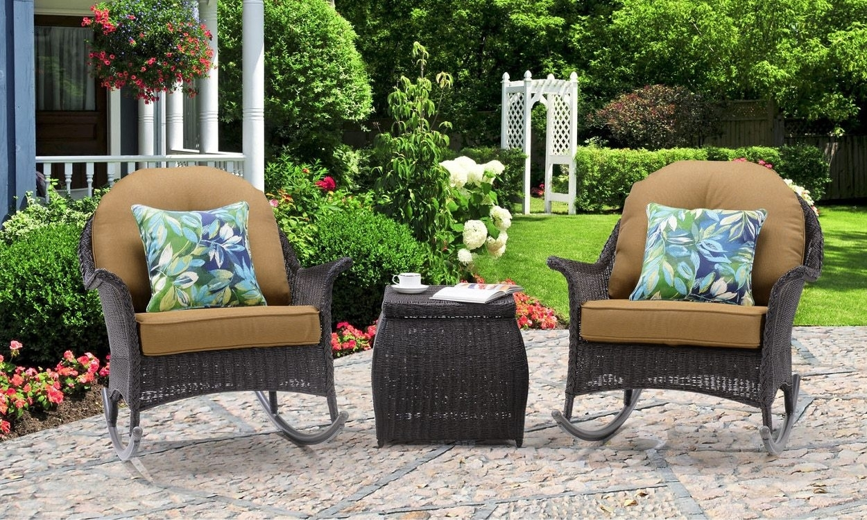 3 Tips For Buying Outdoor Rocking Chairs – Overstock Throughout Wicker Rocking Chairs And Ottoman (#1 of 15)