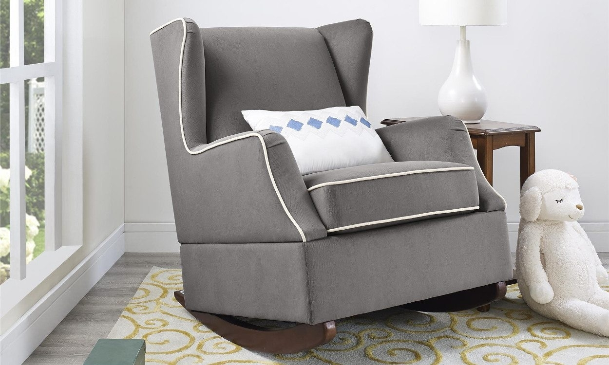4 Steps For Buying The Perfect Rocking Chair – Overstock With Regard To Upholstered Rocking Chairs (#1 of 15)
