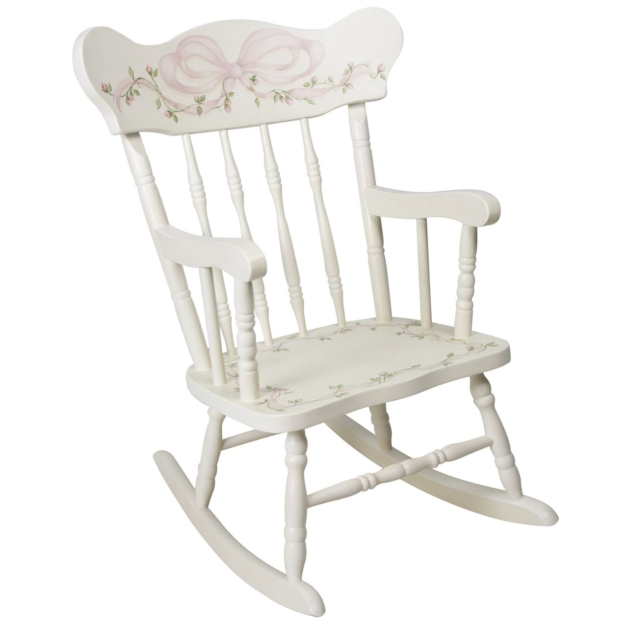 Afk Furniture – Child's Rocking Chair Ribbons And Roses, $ (View 1 of 15)