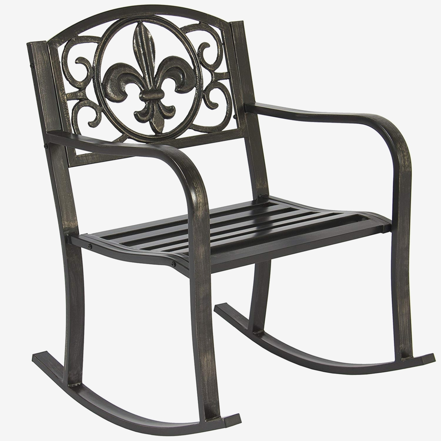 Amazon : Best Choice Products Metal Rocking Chair Seat For Patio Intended For Amazon Rocking Chairs (View 10 of 15)