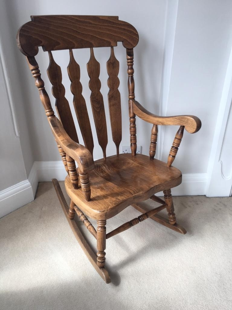 Antique Pine Rocking Chair | In Chiswick, London | Gumtree Regarding Upcycled Rocking Chairs (View 12 of 15)