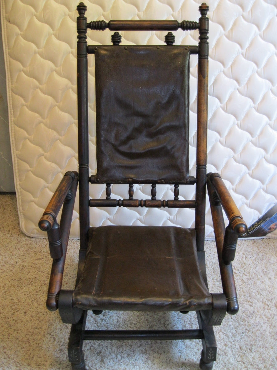 Antique Rocking Chair From The 1800's (#4 of 15)