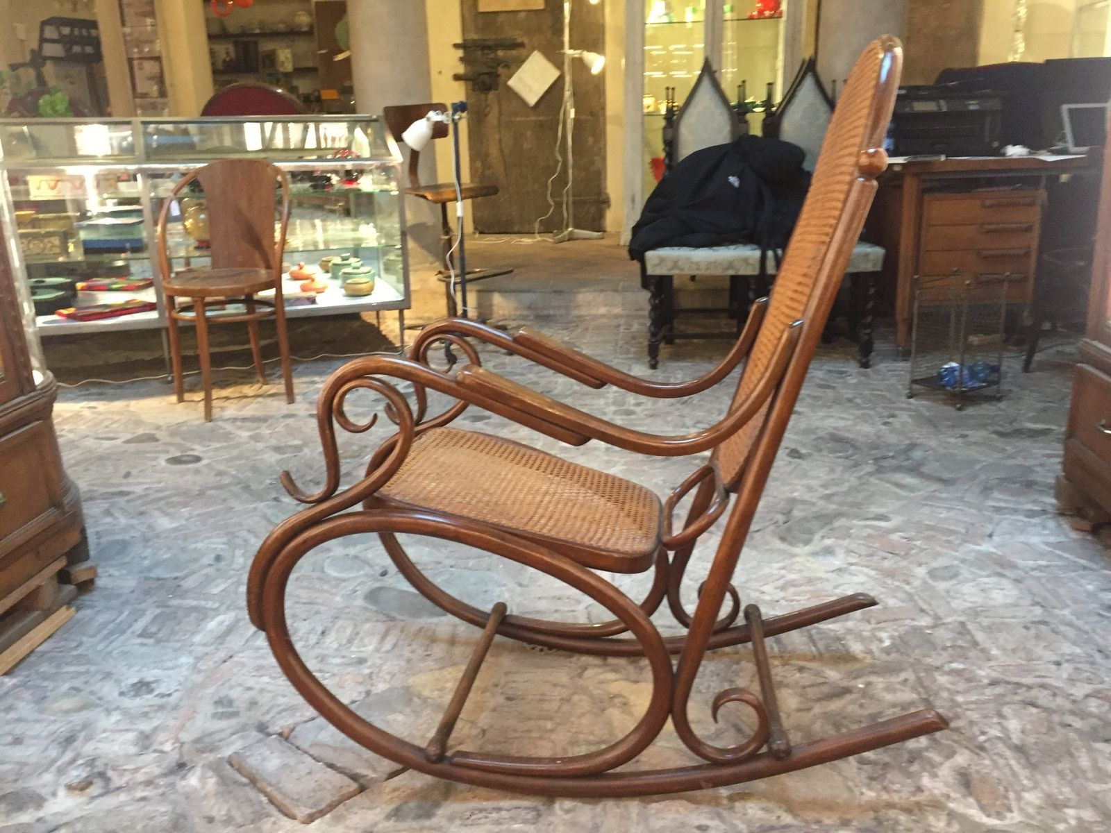 Antique Rocking Chair From Thonet For Sale At Pamono Inside Antique Rocking Chairs (#5 of 15)