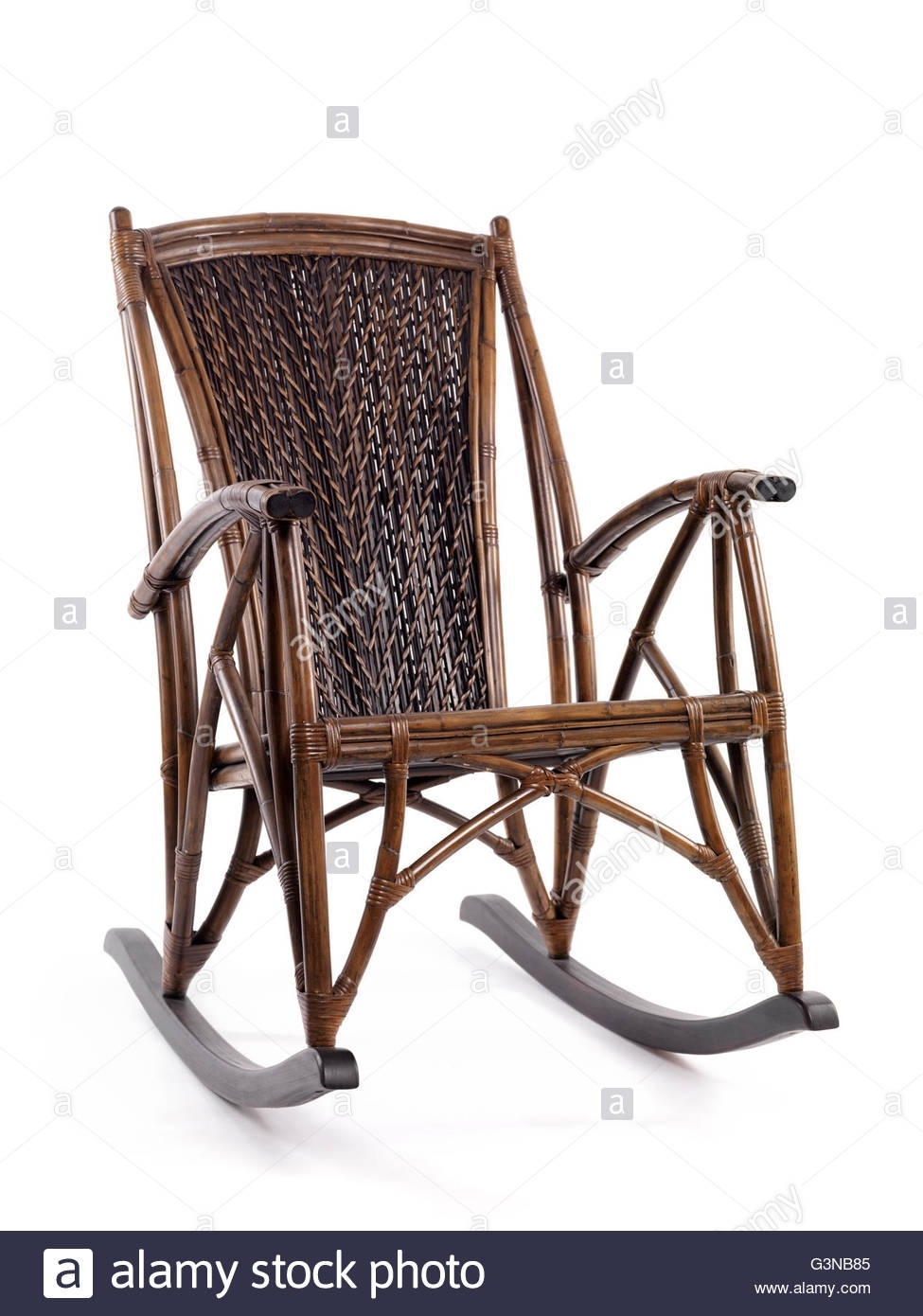 Antique Rocking Chair Stock Photos & Antique Rocking Chair Stock In Antique Wicker Rocking Chairs With Springs (#3 of 15)