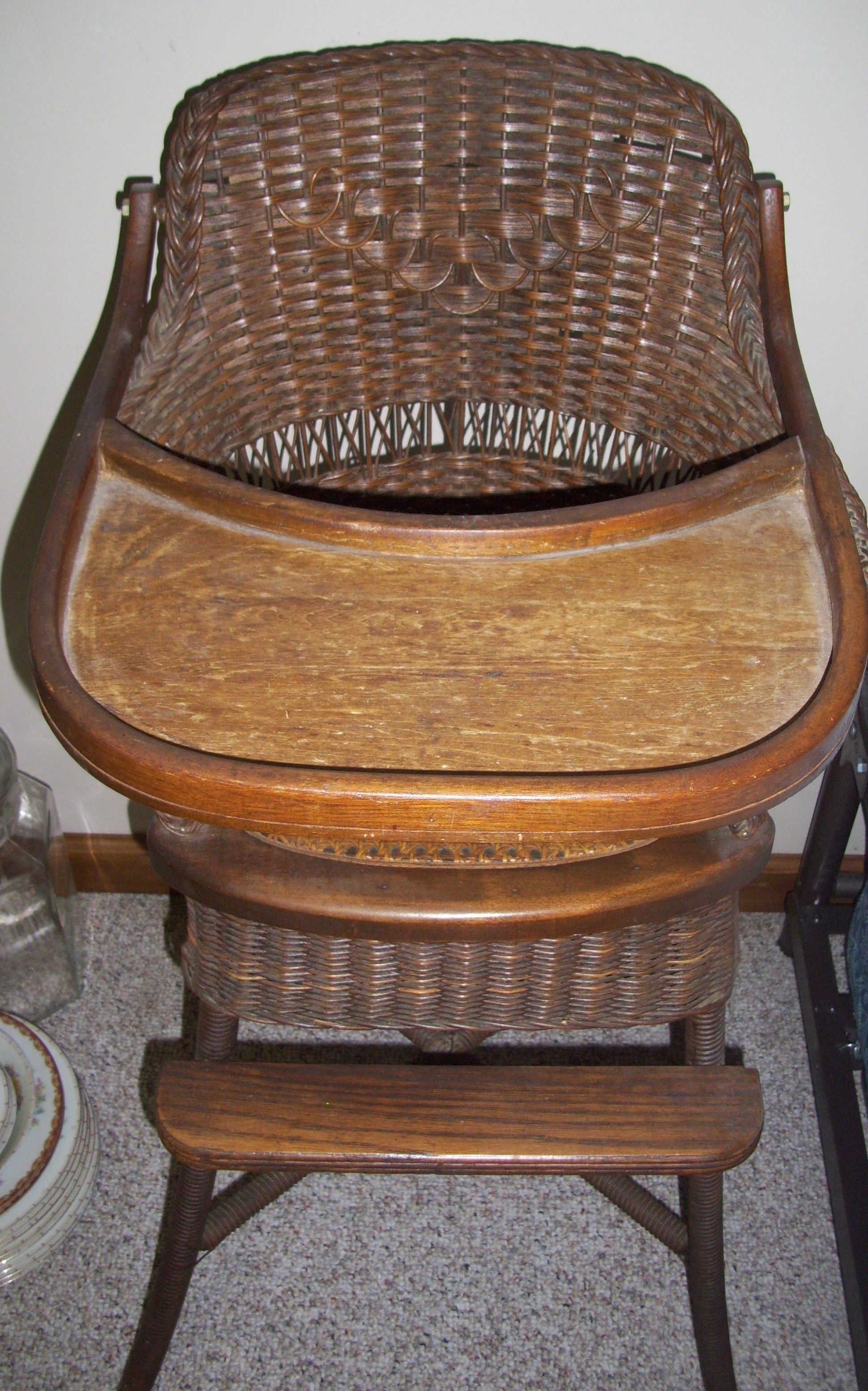 Antique Wicker High Chair | Things I Love! | Pinterest | High Chairs Pertaining To Antique Wicker Rocking Chairs With Springs (#5 of 15)