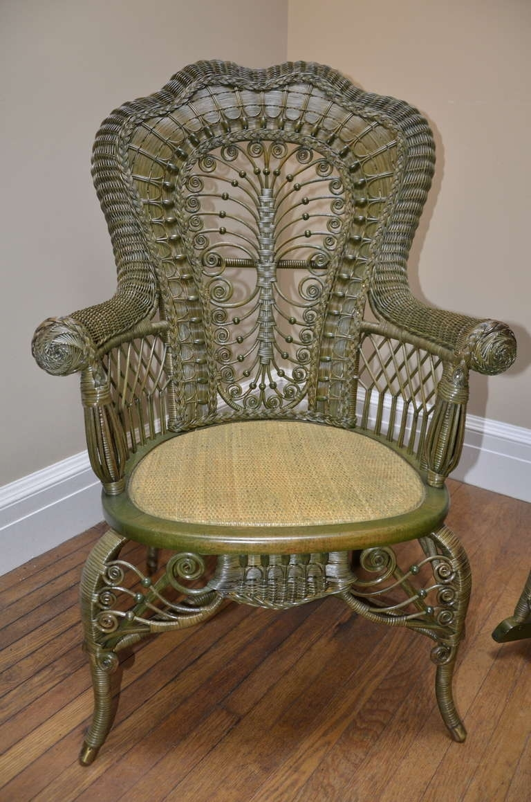 Antique Wicker Rocking Chair | Best Home Chair Decoration Inside Vintage Wicker Rocking Chairs (#1 of 15)