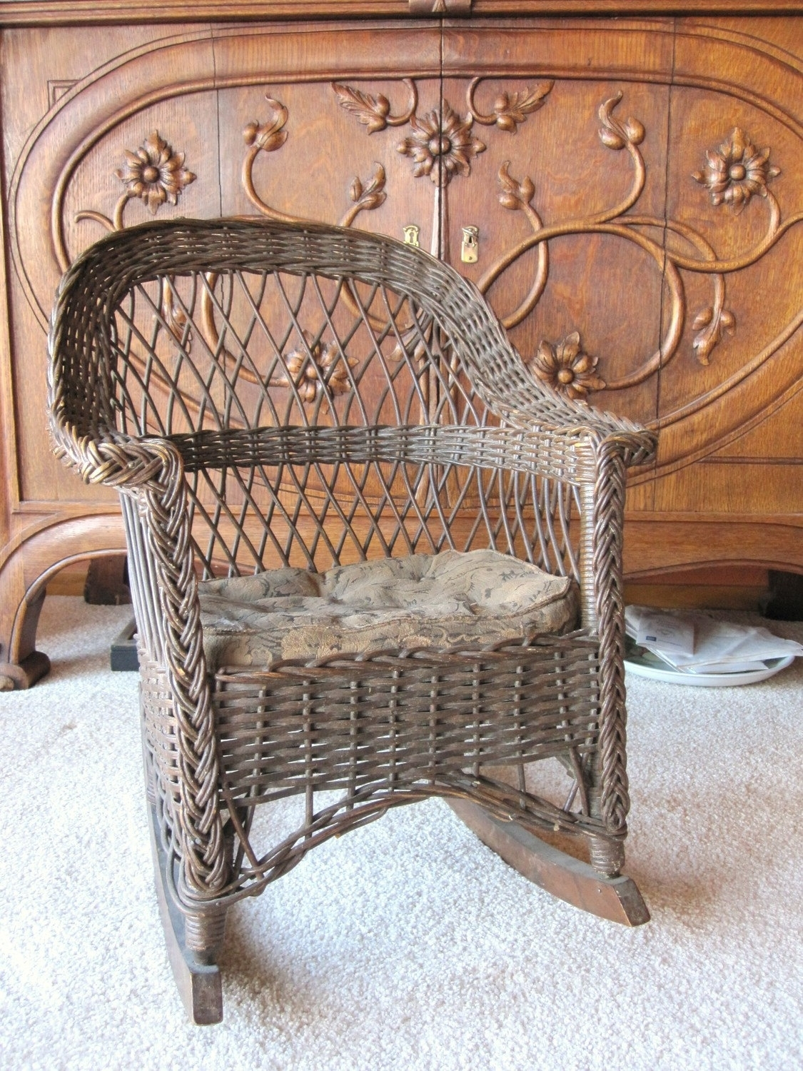 Popular Photo of Antique Wicker Rocking Chairs