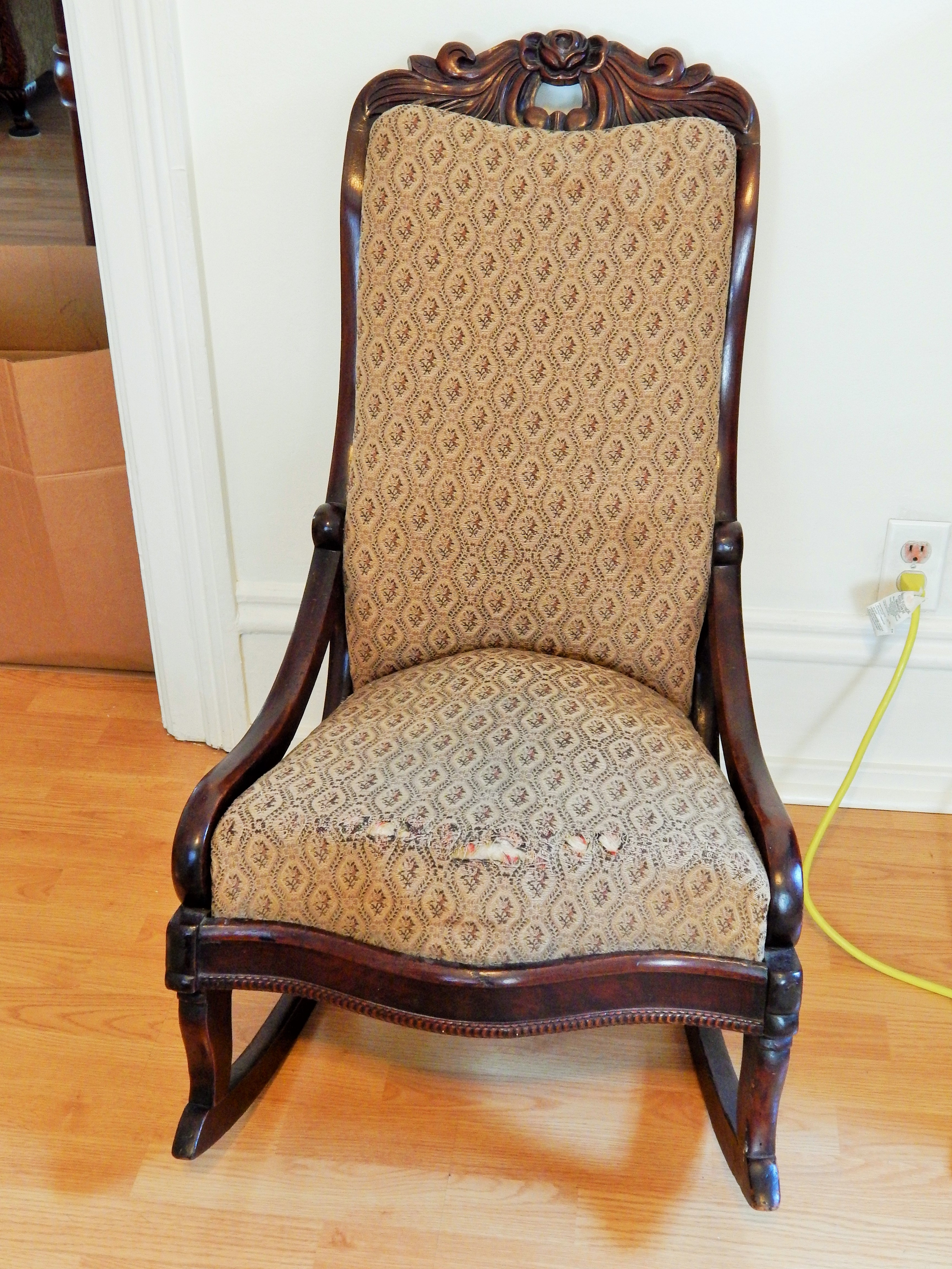 Antique Wicker Rocking Chair With Springs | Best Home Chair Decoration Throughout Rocking Chairs With Springs (#6 of 15)