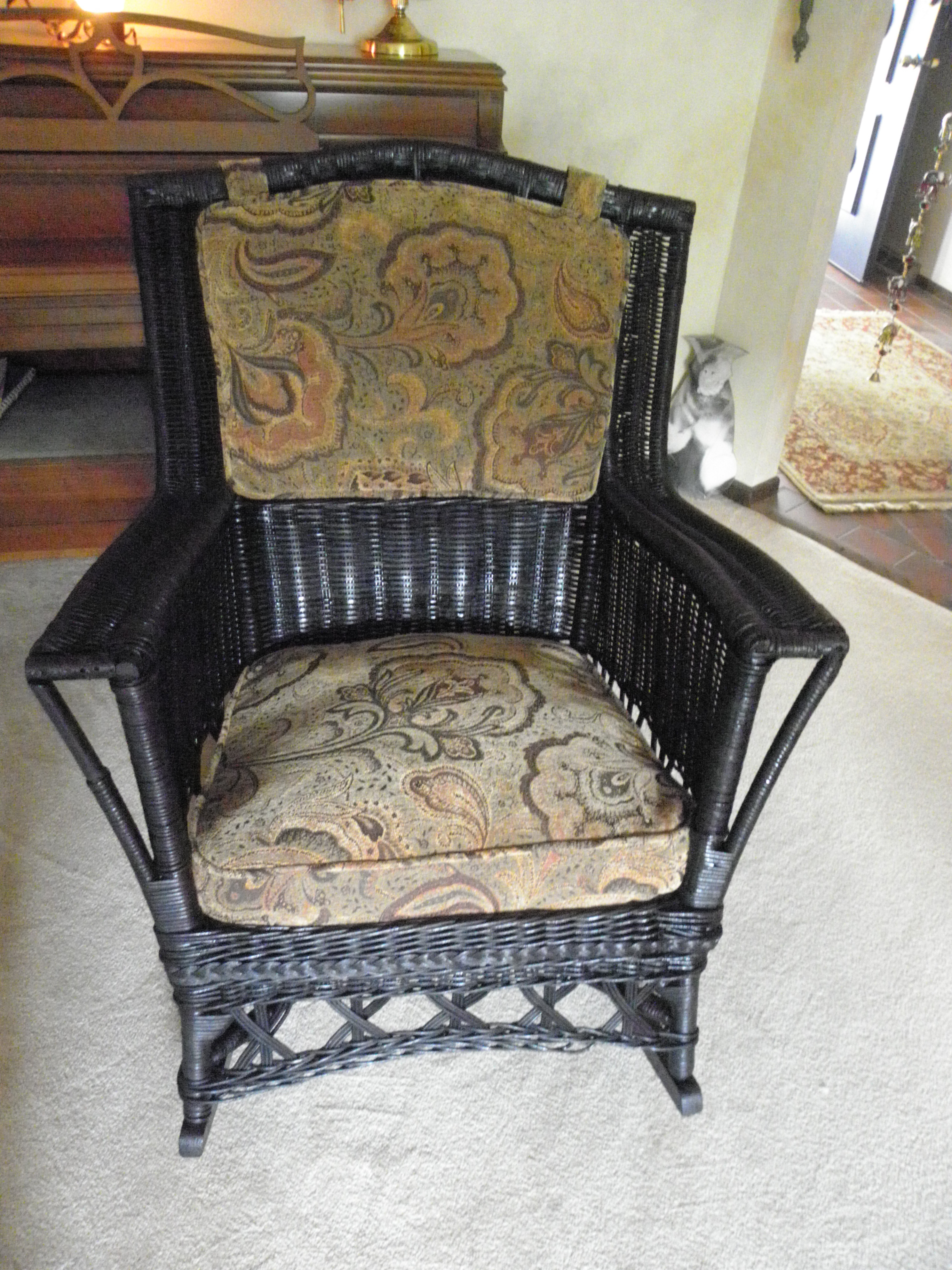 Antique Wicker Rocking Chair With Springs | Best Home Chair Decoration Throughout Rocking Chairs With Springs (#5 of 15)