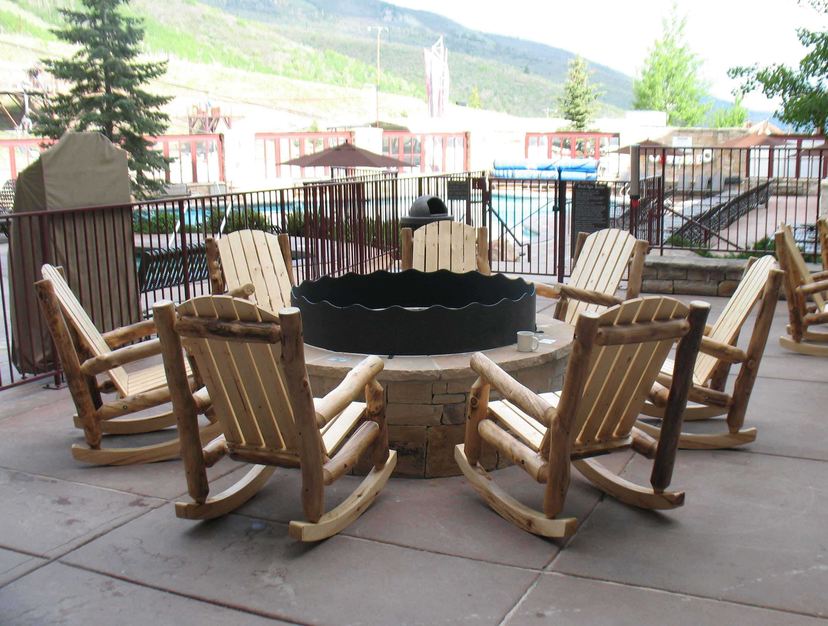 Aspen Log Outdoor Rocking Chair | Rustic Log Furniture Of Utah Pertaining To Unique Outdoor Rocking Chairs (#1 of 15)