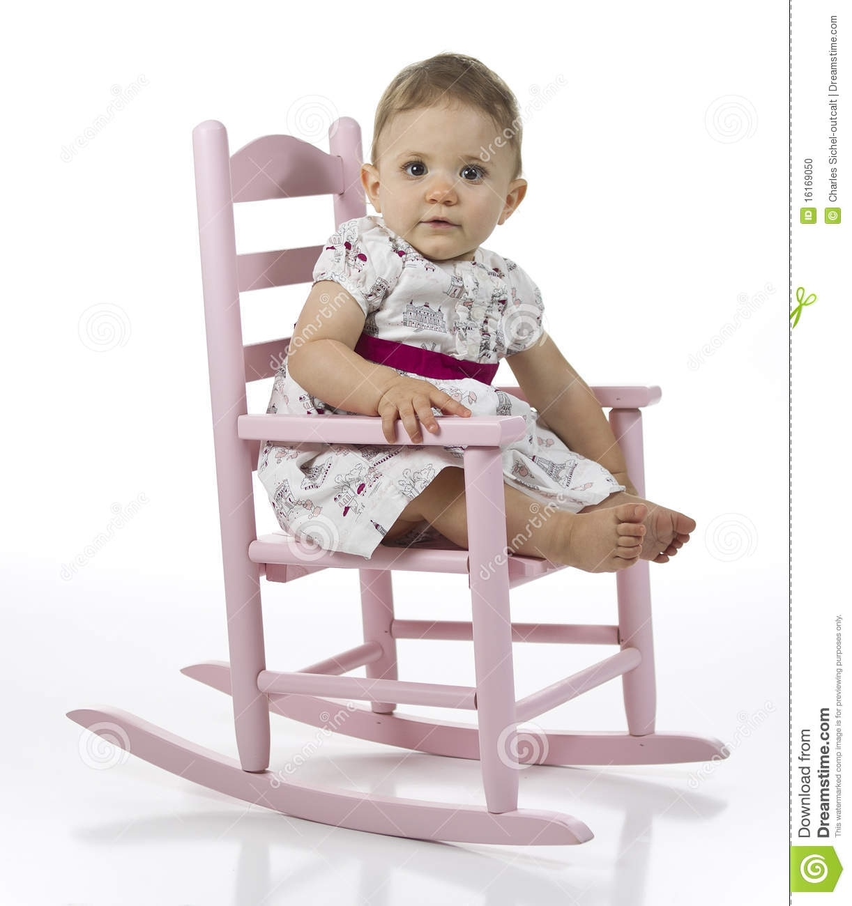 Baby Girl In Rocking Chair Stock Photo (#2 of 15)