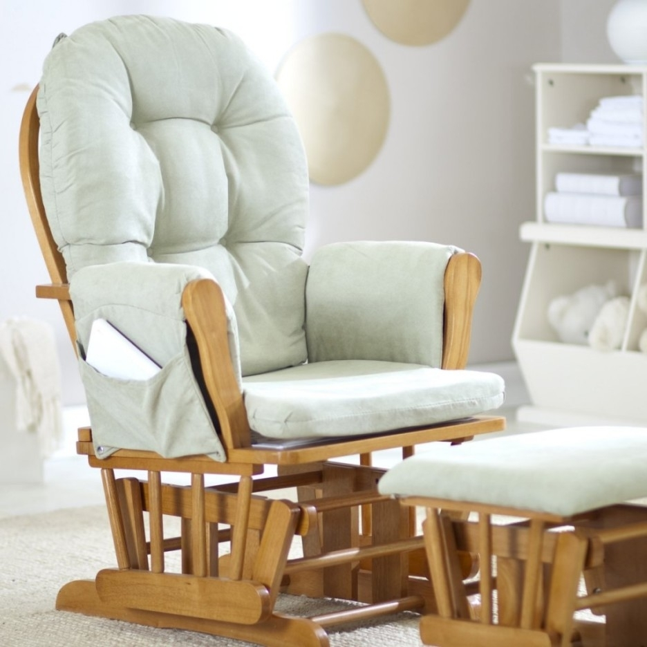 Baby Nursery Cozy Glider Rocking Chair Fr Baby Nursery With Teak Pertaining To Rocking Chairs For Baby Room (View 4 of 15)