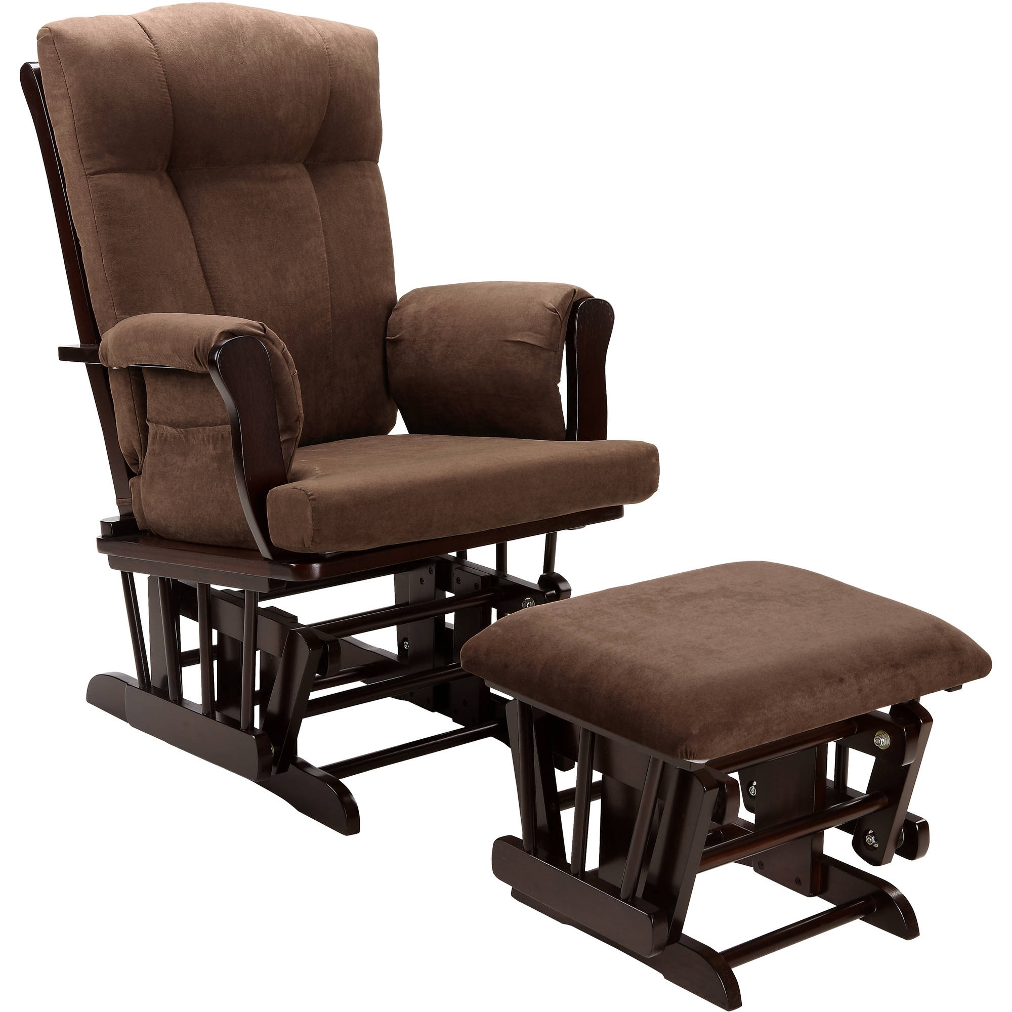 Baby Relax Glider Rocker And Ottoman Espresso With Chocolate With Rocking Chairs With Ottoman (#3 of 15)