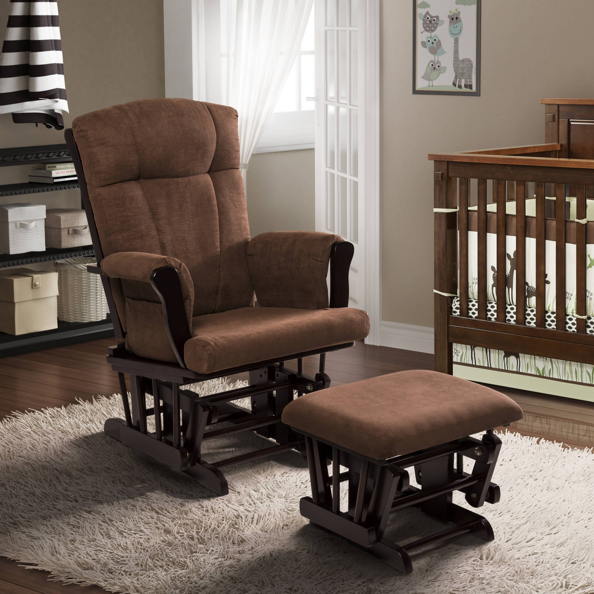 Baby Relax Hadley Double Rocker Dark Taupe – Walmart Within Rocking Chairs At Walmart (#2 of 15)