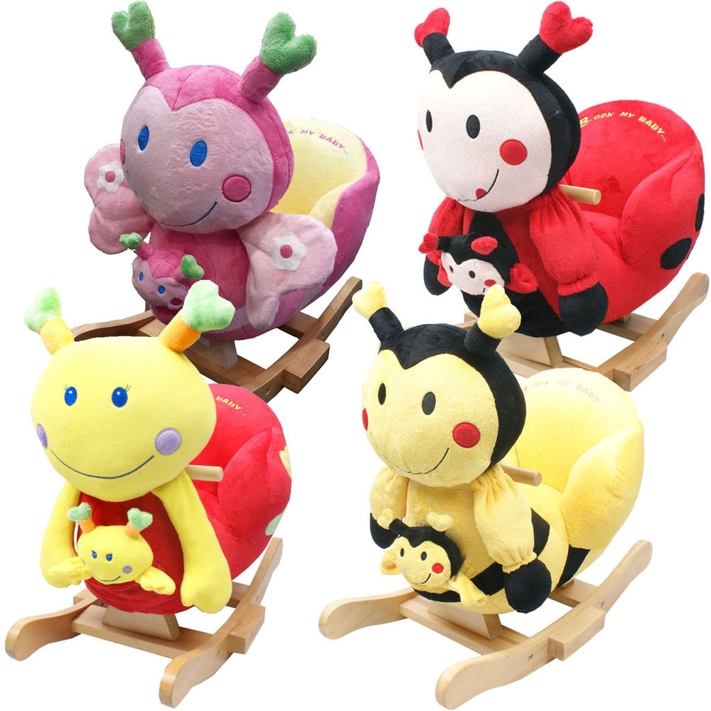Baby Rocker Rocking Chair Toy Toddler Animal Soft Cuddly Musical Inside Rocking Chairs For Babies (#3 of 15)