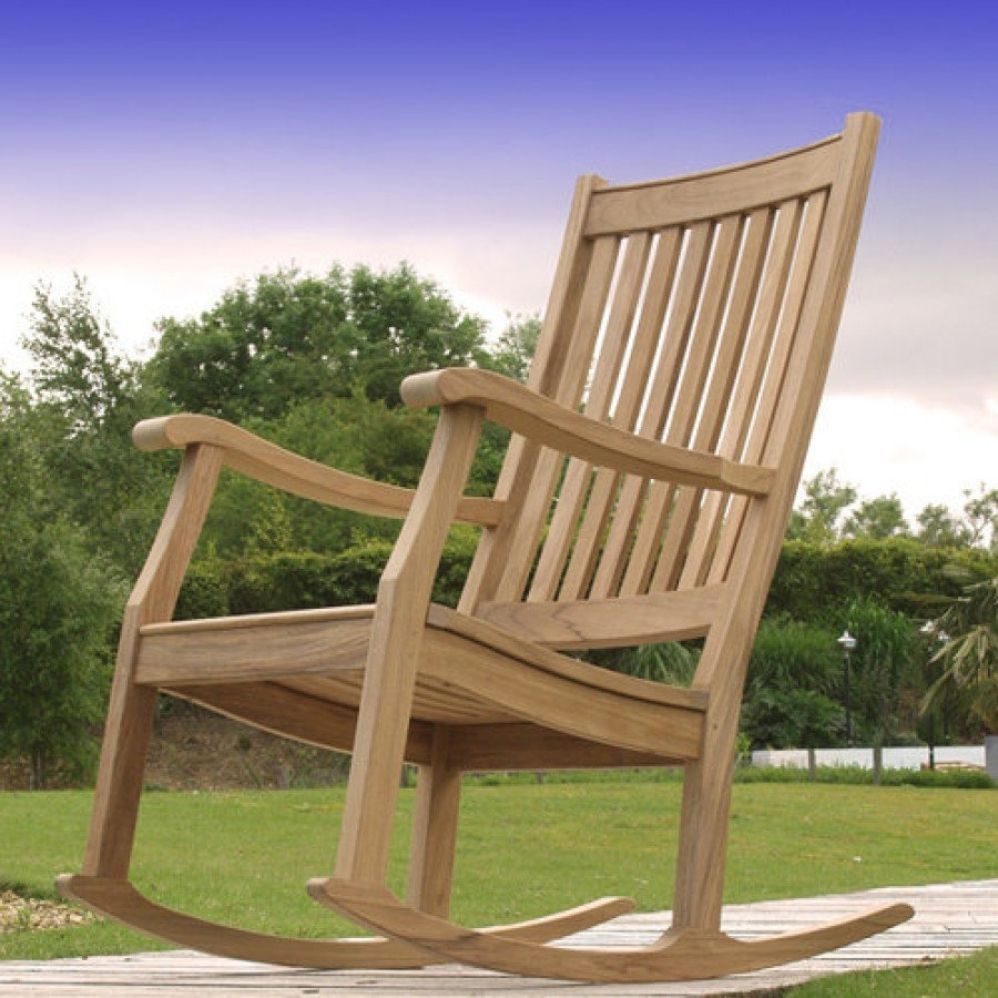 Barlow Tyrie Newport Teak Outdoor Rocking Chair For Xl Rocking Chairs (#1 of 15)
