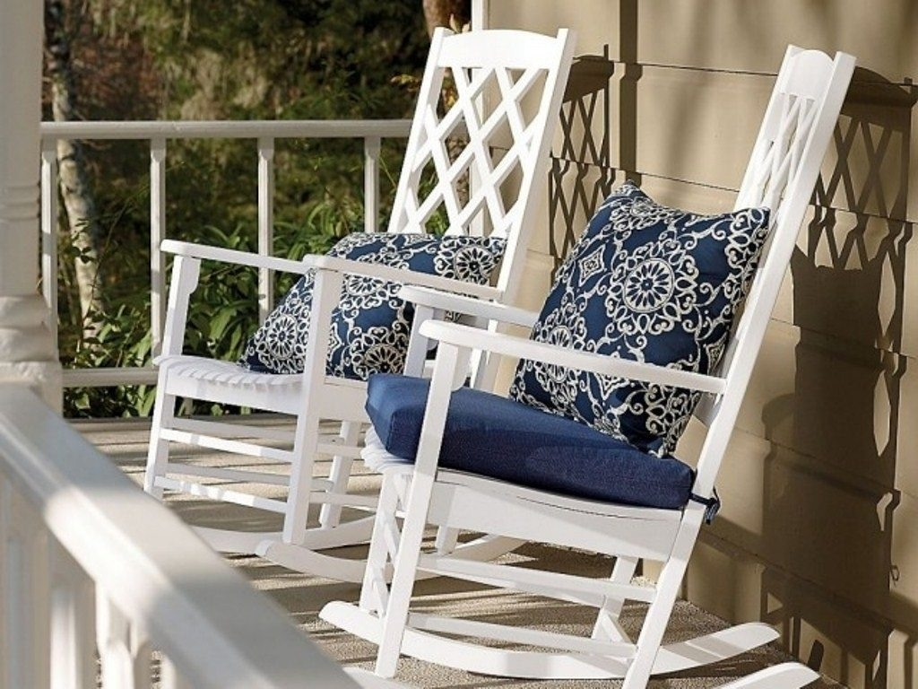 Beautiful Outdoor Rocking Chair Cushions | Fibi Ltd Home Ideas Throughout Unique Outdoor Rocking Chairs (#2 of 15)
