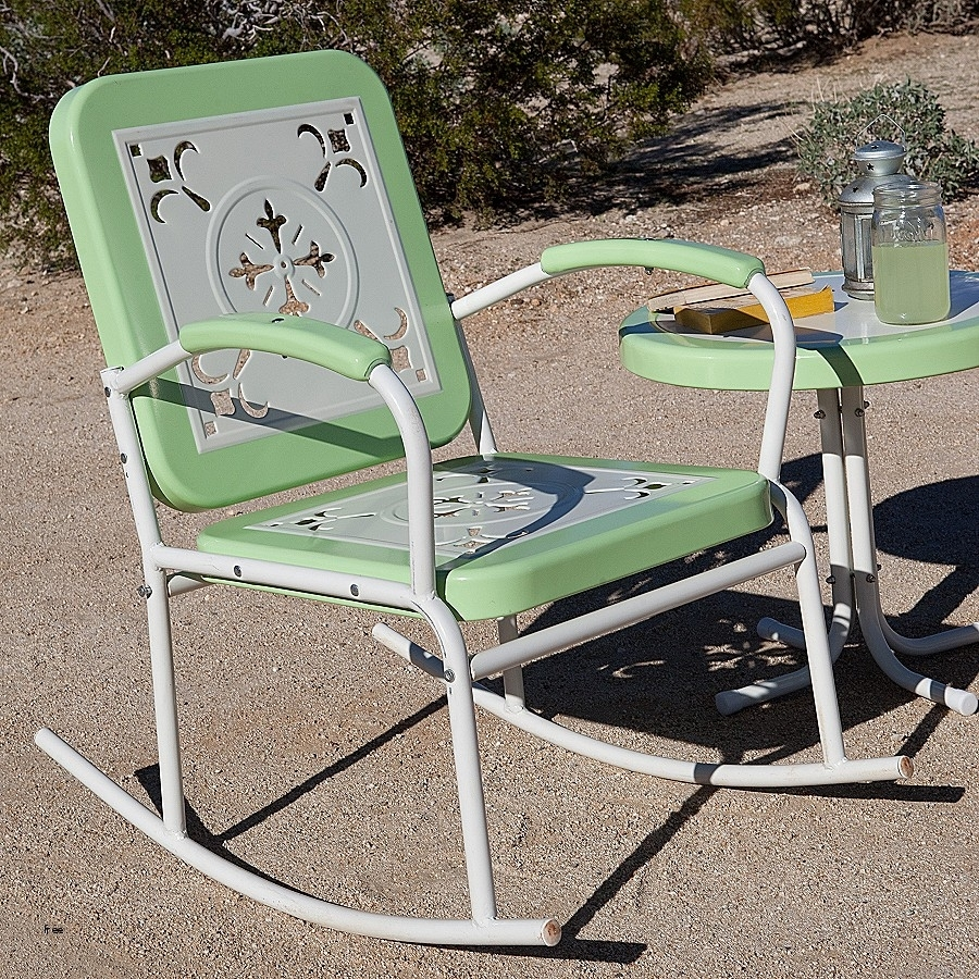 Best Of Vintage Folding Lawn Chairs » Nonsisbudellilitalia Pertaining To Vintage Metal Rocking Patio Chairs (View 4 of 15)
