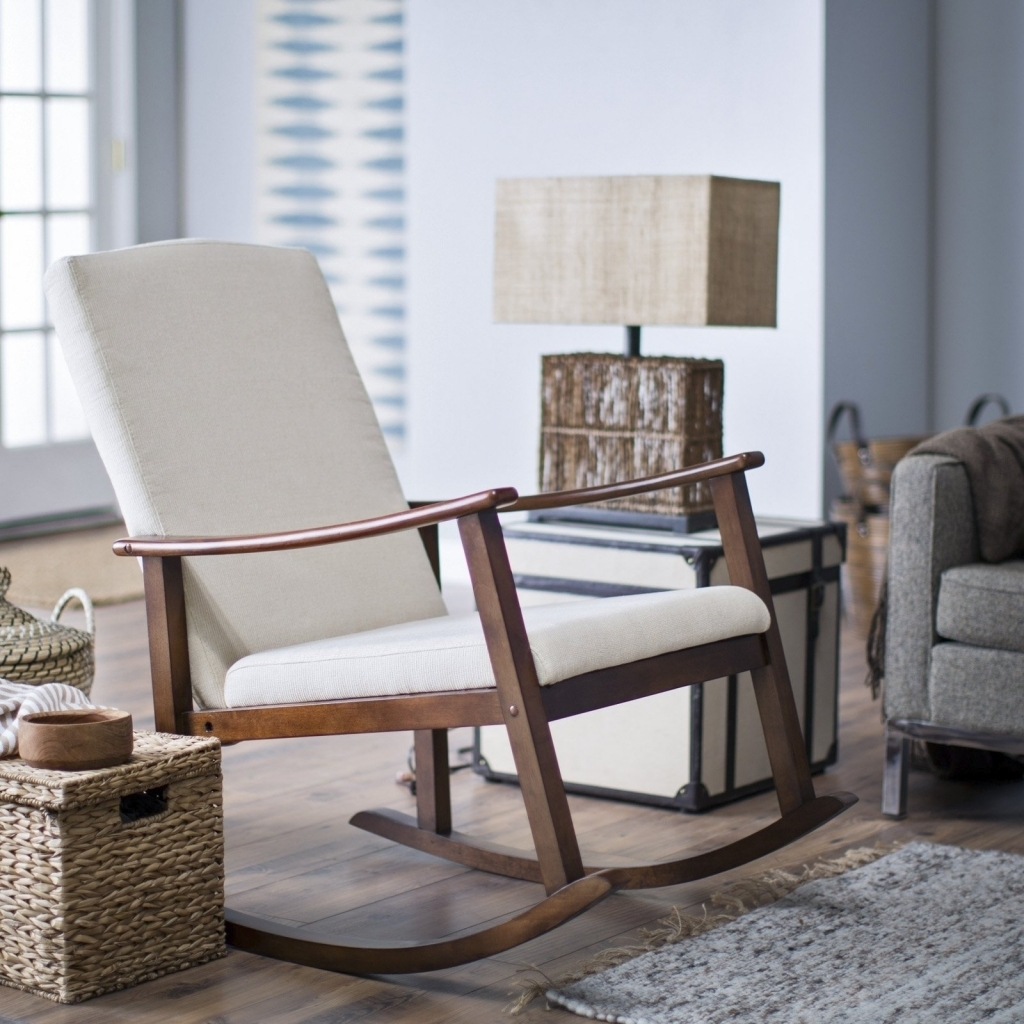 Best Upholstered Rocking Chair For Nursery Editeestrela Design With For Rocking Chairs For Small Spaces (#4 of 15)
