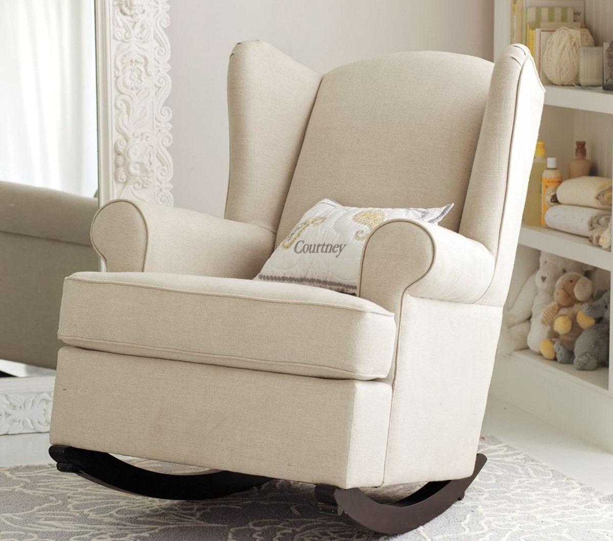 Best Upholstered Rocking Chair For Nursery | Editeestrela Design With Upholstered Rocking Chairs (View 15 of 15)