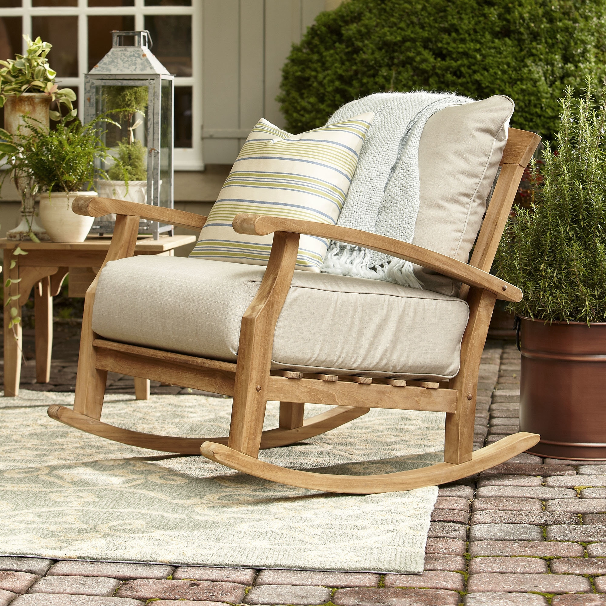Birch Lane™ Summerton Teak Rocking Chair & Reviews | Birch Lane With Regard To Teak Patio Rocking Chairs (View 2 of 15)