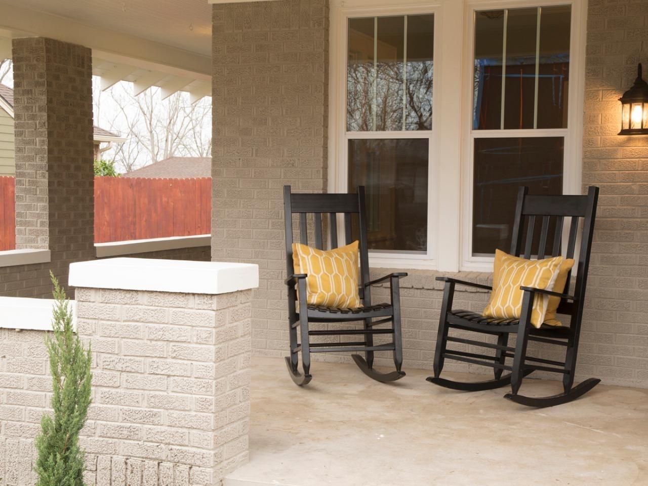 Black Porch Rocking Chairs Unique Amusing Small Outdoor Patio With Small Patio Rocking Chairs (#1 of 15)